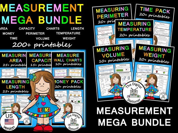 Measurement MEGA Bundle (US version) - 200+ printables