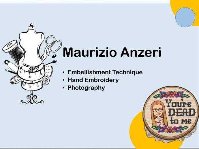 Maurizio Anzeri Embellishment Stitch Art Textiles