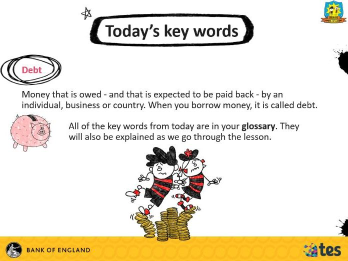 Lesson 11 Money and me - What is debt? (English curriculum)