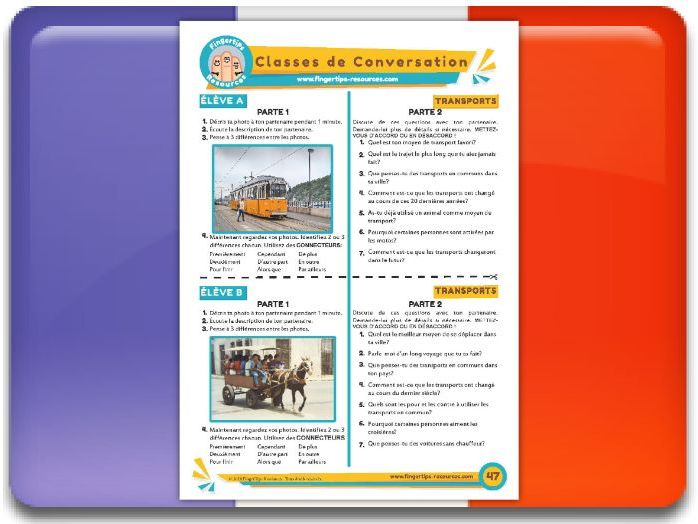 Les transports - French Conversation Activity
