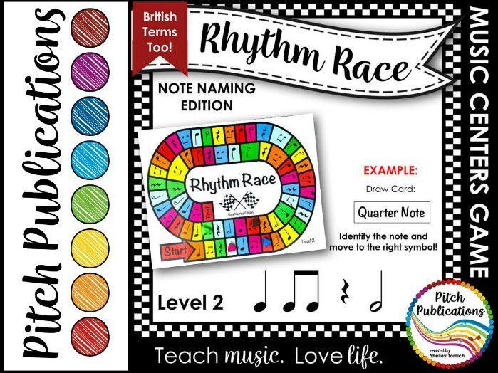 Music Centers: Rhythm Race Note Naming Edition Level 2 - Rhythm Game