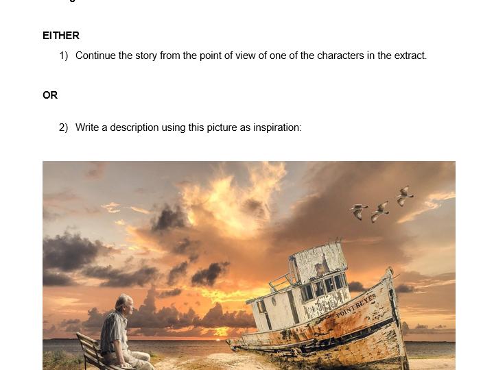 Comprehension Exercises + Writing Task - FREE SAMPLE - 11 Plus
