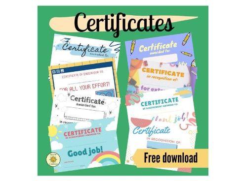 Award certificate for great work/effort. Suitable for all subjects. Certificados/Diplomas en inglés.