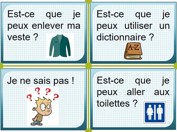 Classroom language (classroom displays)