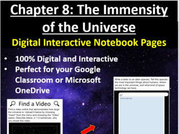 The Immensity of the Universe - Digital Interactive Notebook Pages