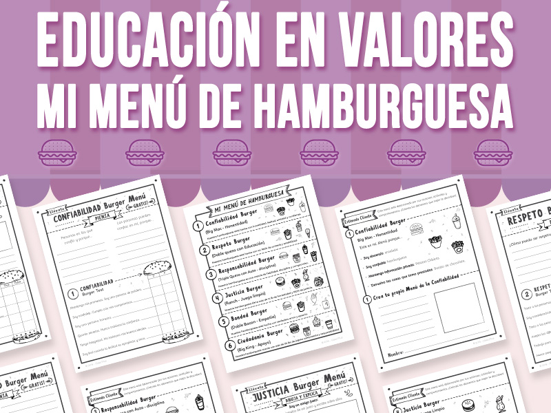 Educación en Valores - Mi Menú de Hamburguesa