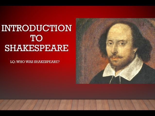 Introduction to Shakespeare Unit. Complete SOL