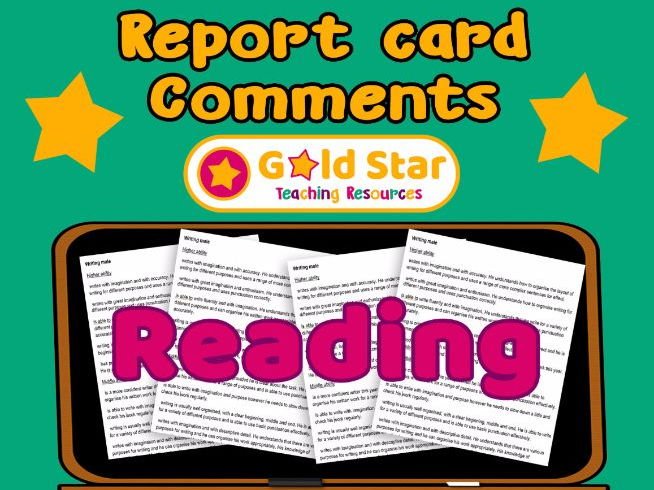 Report card comments - Reading