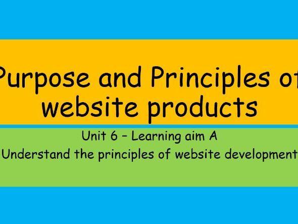 Btec Level 3 IT - Unit 6 Website Development - Learning Aim A - L1  Purpose of Websites