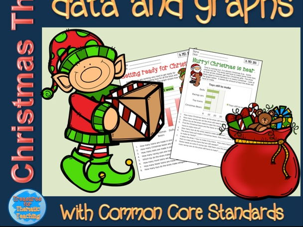 Christmas Themed Data and Graph worksheets