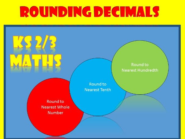 Rounding Decimals: Maths Worksheets for KS2 and KS3