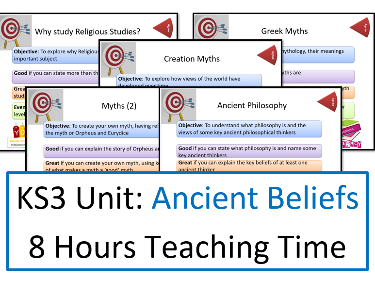 Ancient Beliefs Unit for KS3 - 5 Lessons, 8 Hours Teaching Time