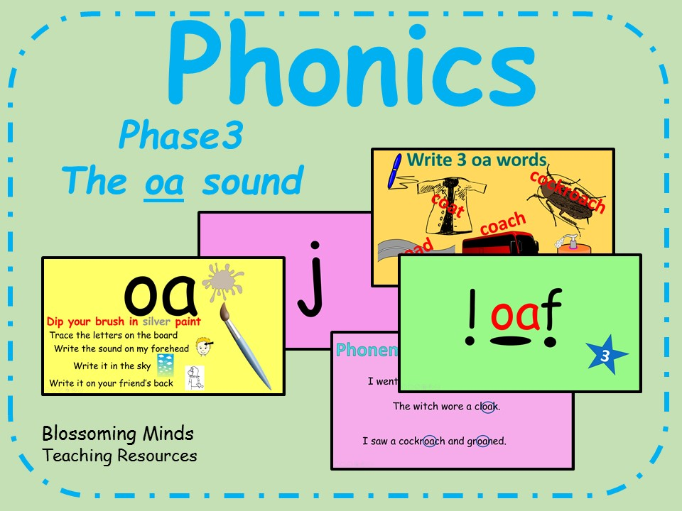 Phonics Phase 3 - The 'oa' sound