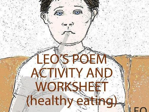 Healthy Eating - Leo's Poem Activity and Worksheet (US)