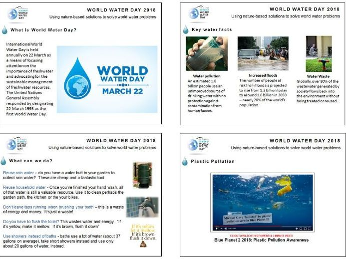 World Water Day 2018 Assembly