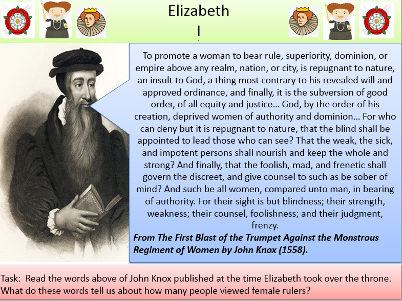 Elizabeth I - Childhood, Privy Council and Problems faced - Succession / Poverty / Weak Ruler / Fore