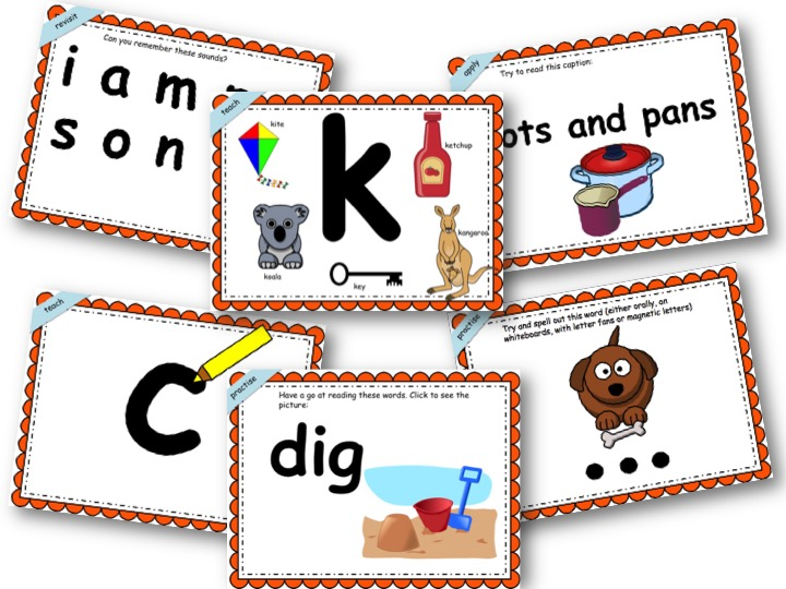 Phonics Powerpoint Phase 2, Week 3 (g,o,c,k)