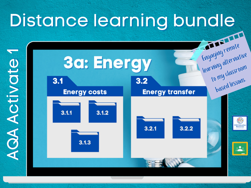 3a Energy: Distance learning bundle (AQA KS3 Activate 1)