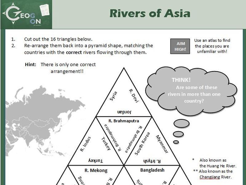 Rivers of Asia Triangle Puzzle