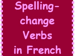 Spelling change verbs in French Bundle