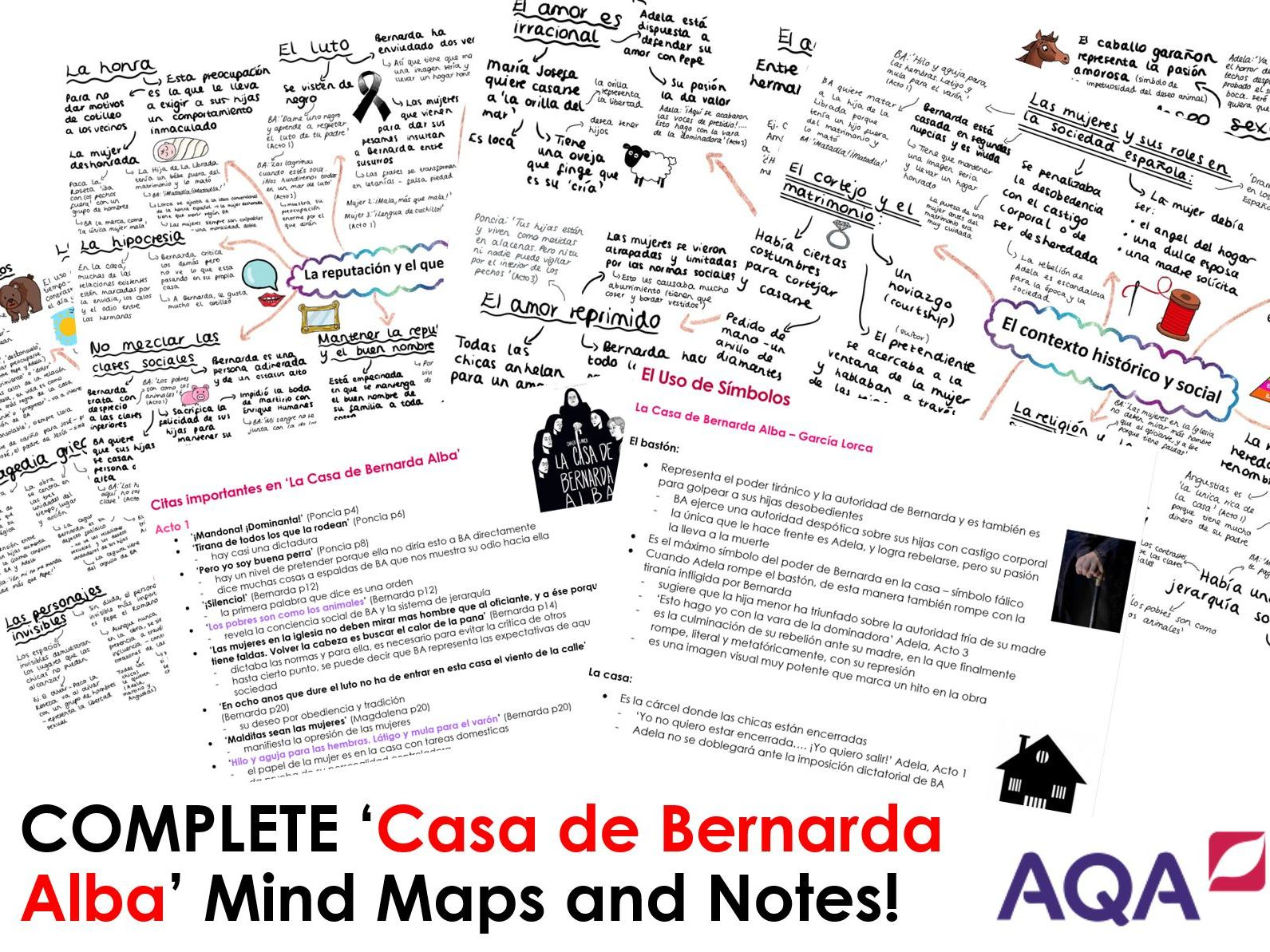 COMPLETE 'CASA DE BERNARDA ALBA' Revision for A LEVEL SPANISH