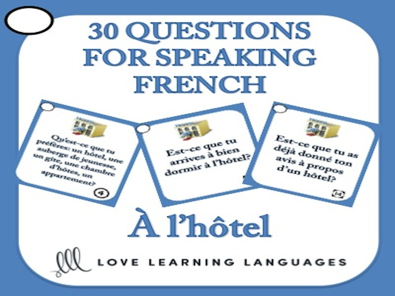 French Speaking Questions - À l'hôtel - Hotel vocabulary