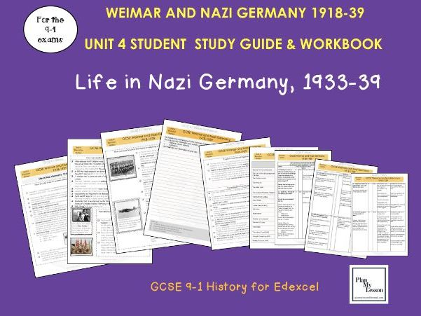 Edexcel 9-1 GCSE - Weimar and Nazi Germany Student Revision Guide UNIT 4