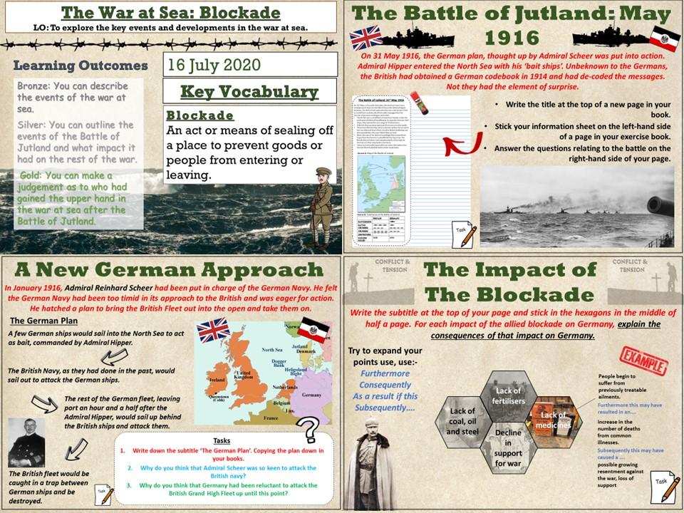 Conflict & Tension 1894 - 1918: The War at Sea, Naval Blockade & Jutland