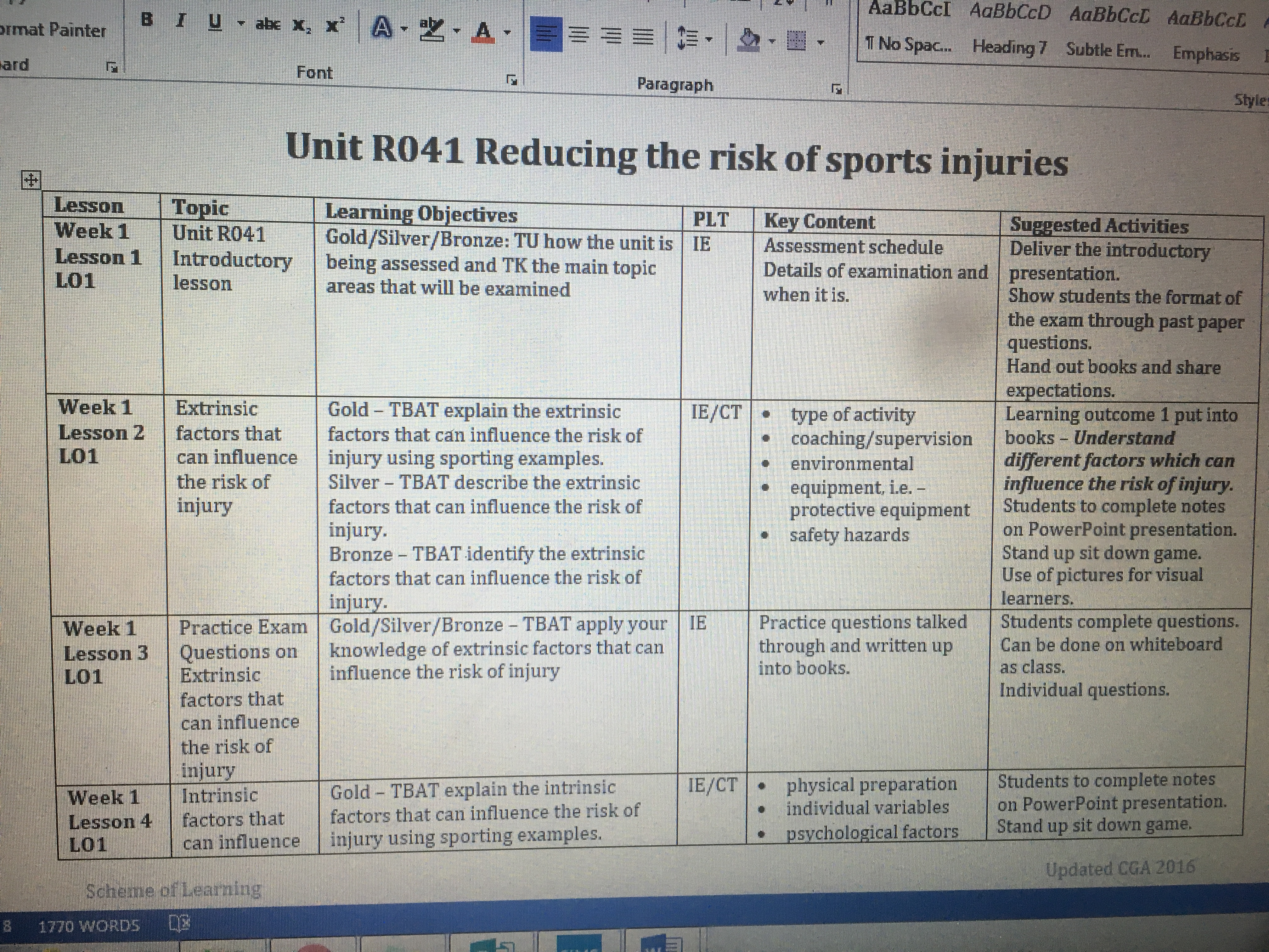 Ocr science coursework help