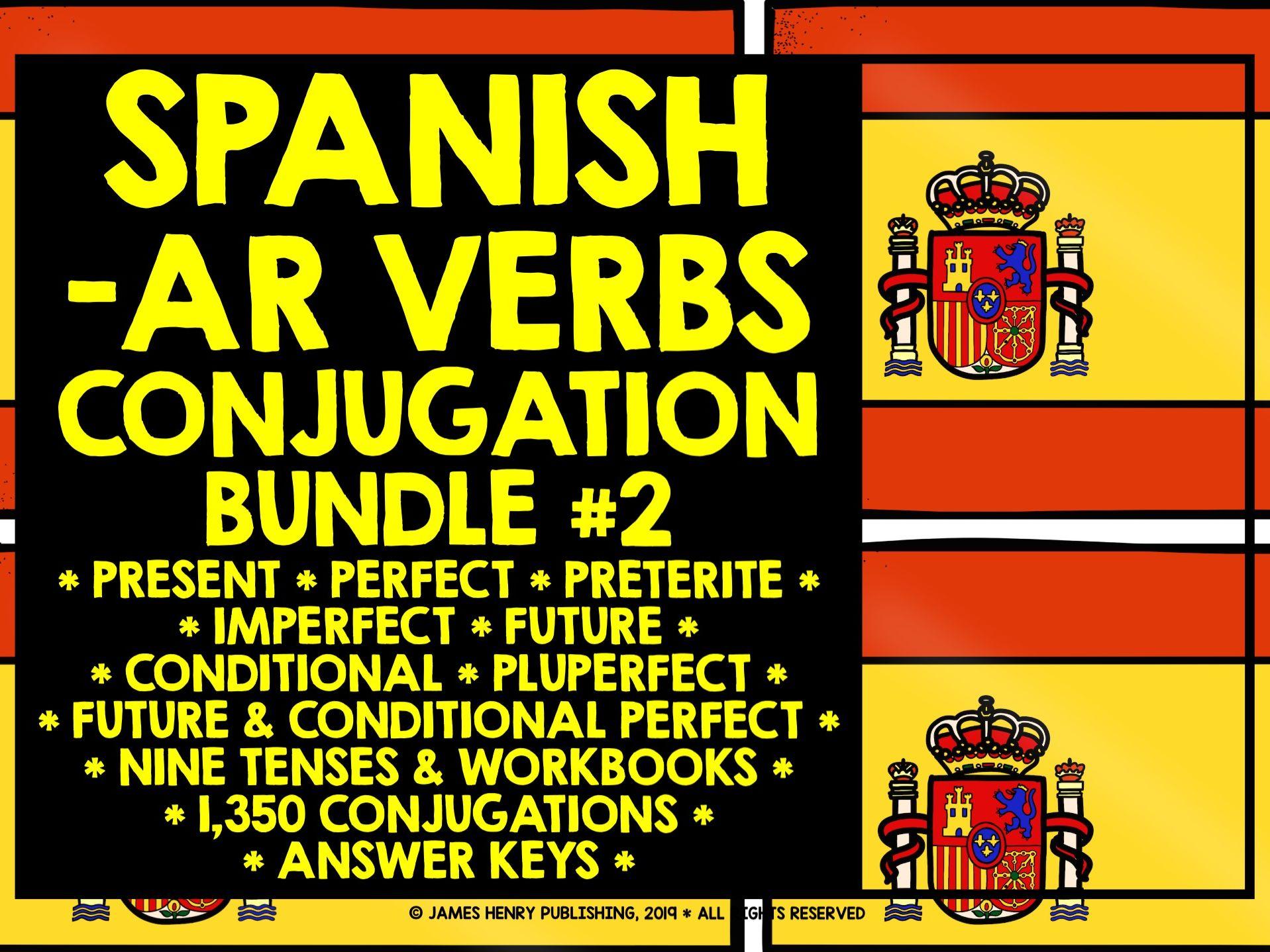 SPANISH -AR VERBS CONJUGATION BUNDLE #2