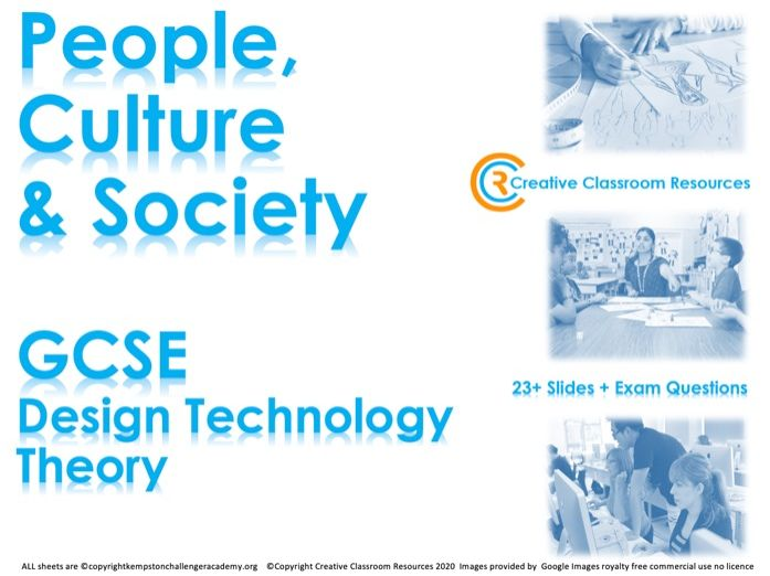 GCSE DT Theory (New Spec) – People, Culture and Society