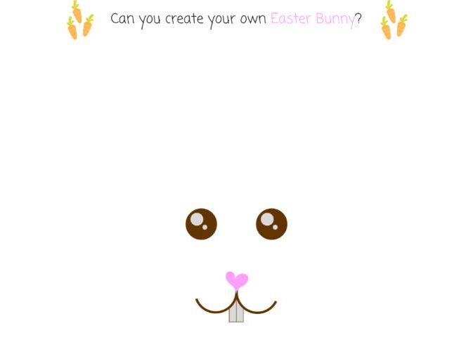 Easter Bunny Nature Craft