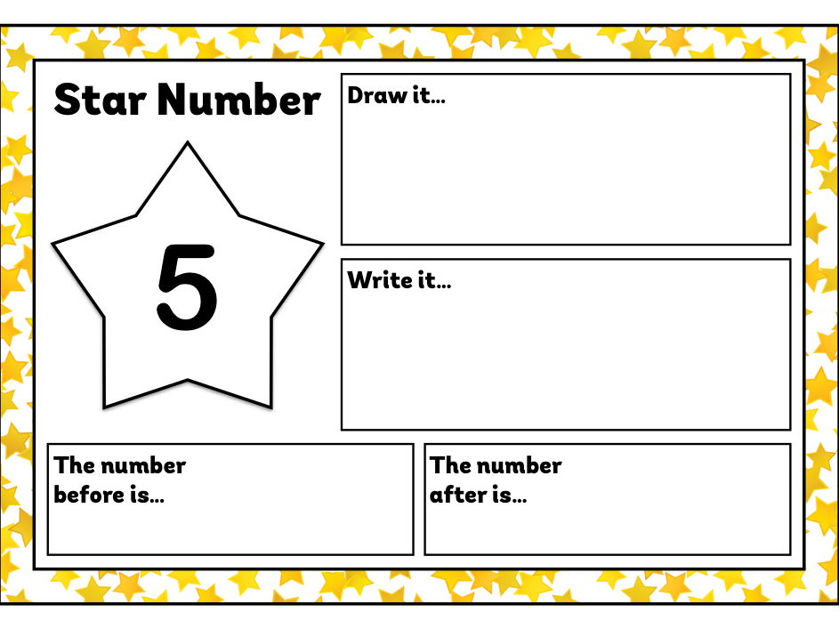 Star Number - Maths Challenges for Early Years