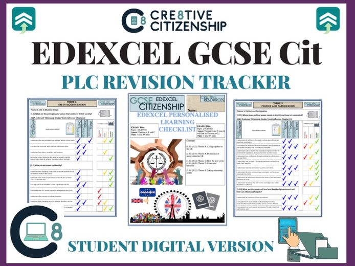 EDEXCEL GCSE Citizenship Digital Revision Checklists