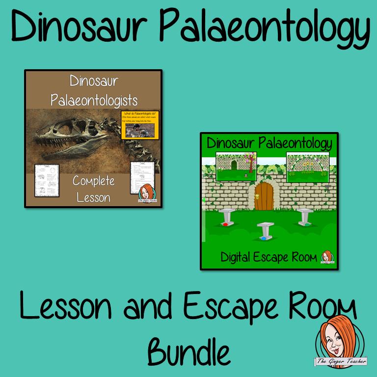 Dinosaur Palaeontology Lesson and Escape Room Bundle