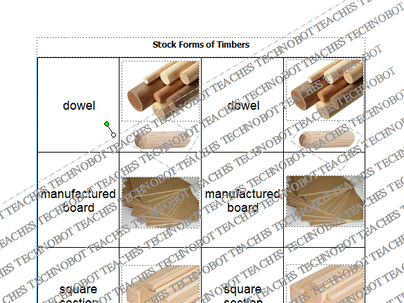 Stock forms of timber based materials card sort