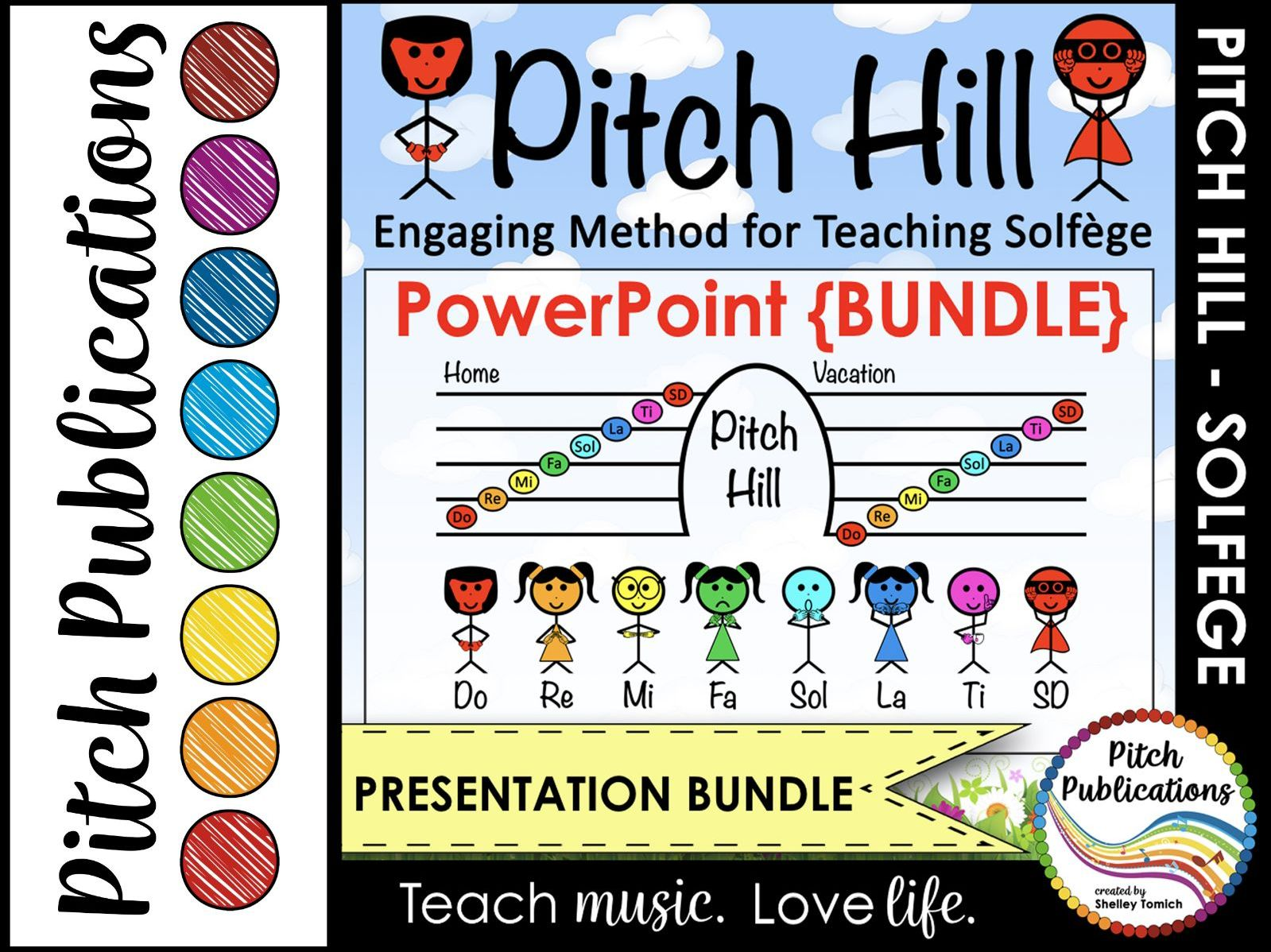 Pitch Hill: PowerPoint {BUNDLE} - Practice Do Re Mi Fa Sol La Ti Do Solfege (So)