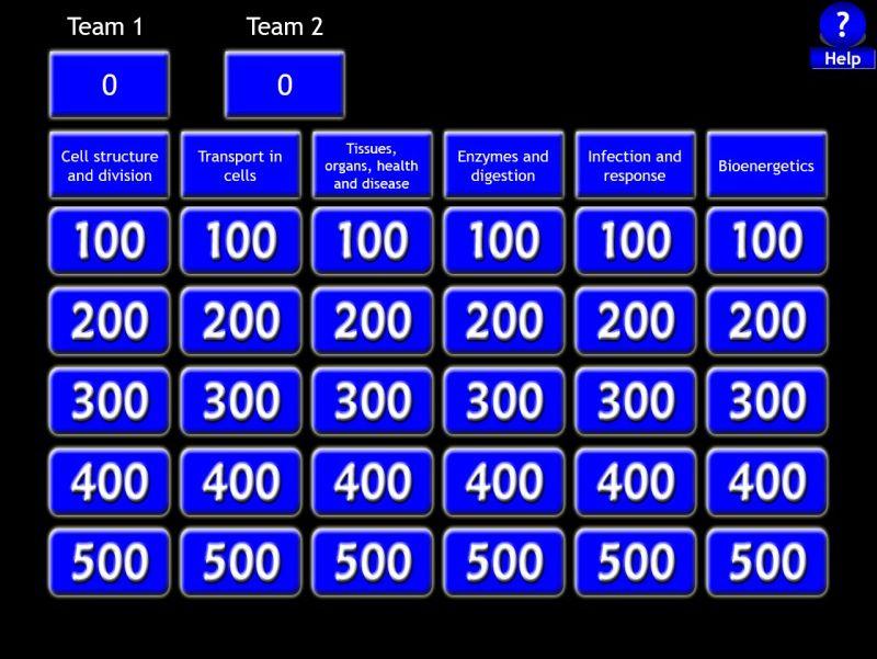 GCSE-NEW_SPEC-AQA-Biology_Paper_1-Jeopardy Revsion Game