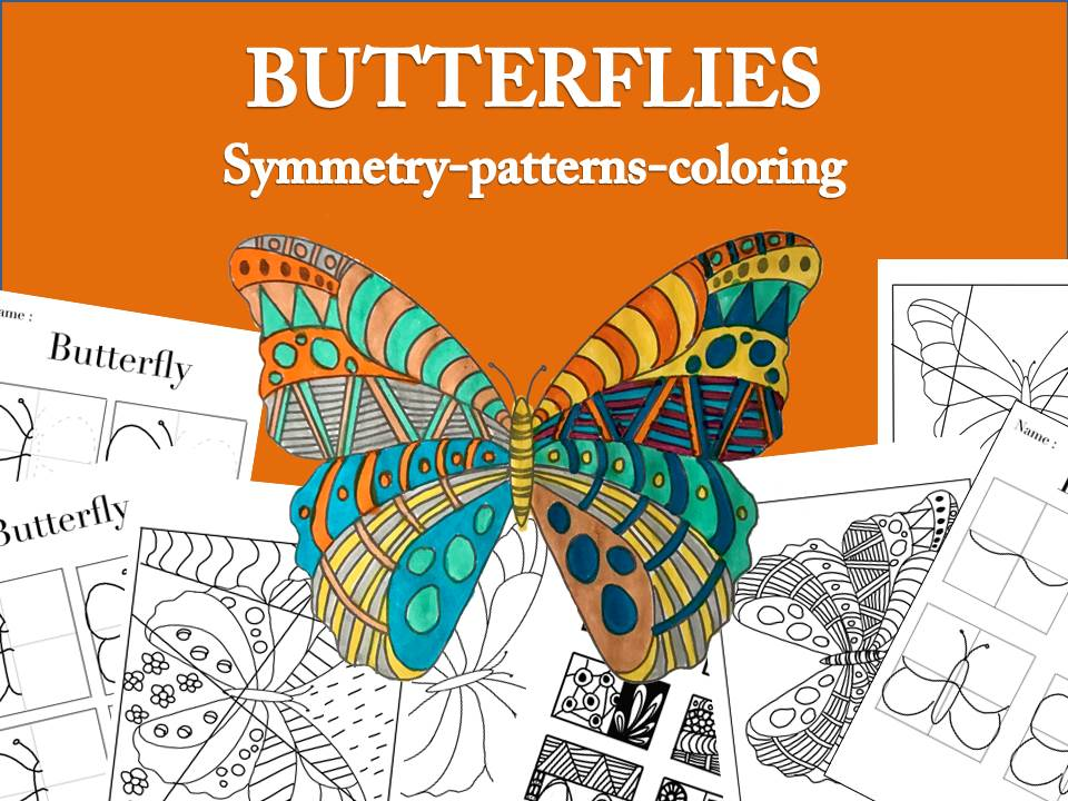 Butterflies : symmetry, patterns, coloring