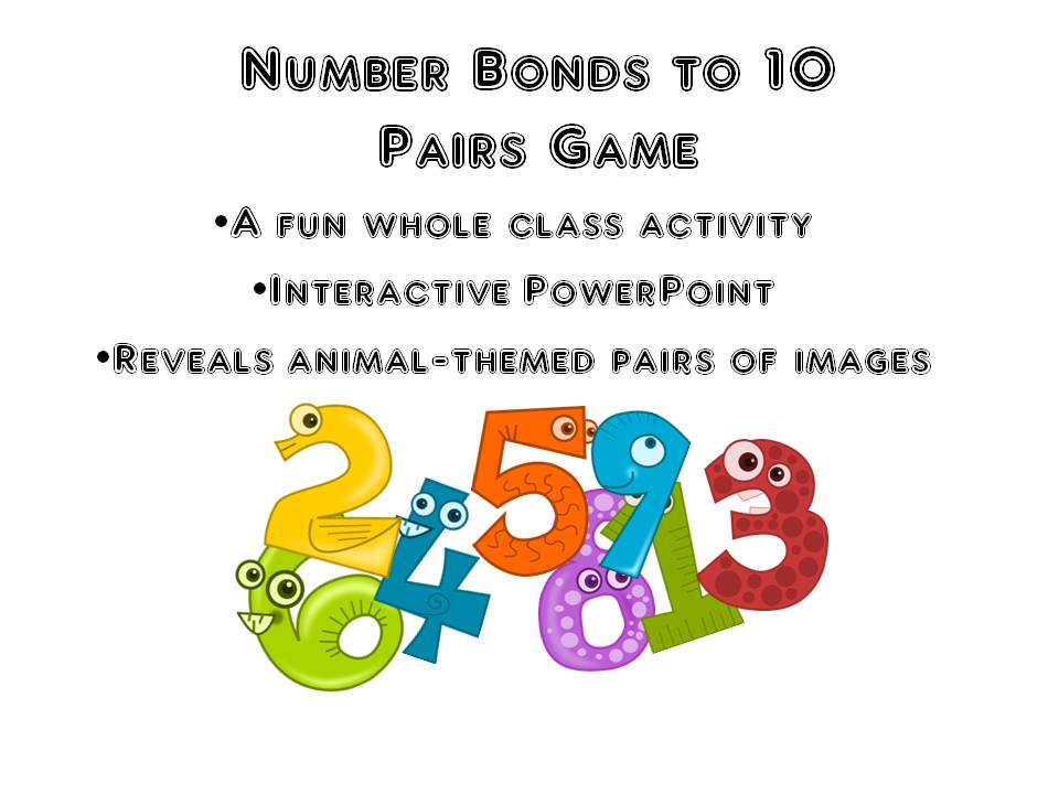 Number Bonds to 10 Pairs Game