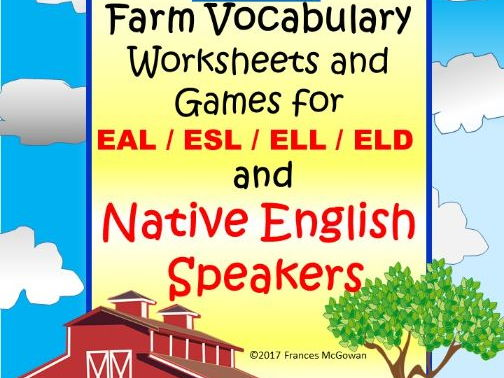 Farm vocabulary Games, Worksheets and Activities