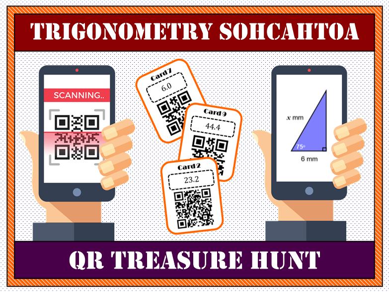 Trigonometry SOHCAHTOA QR Treasure Hunt
