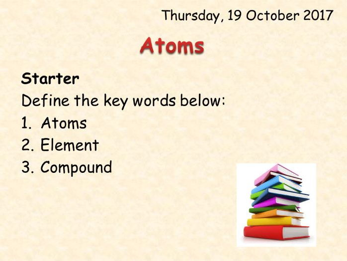 AQA Chemistry Topic 1 Atoms: Complete Resources