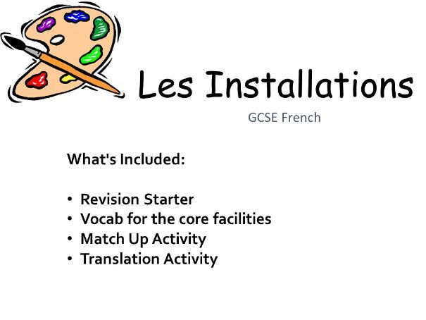 Les Installations I French GCSE AQA