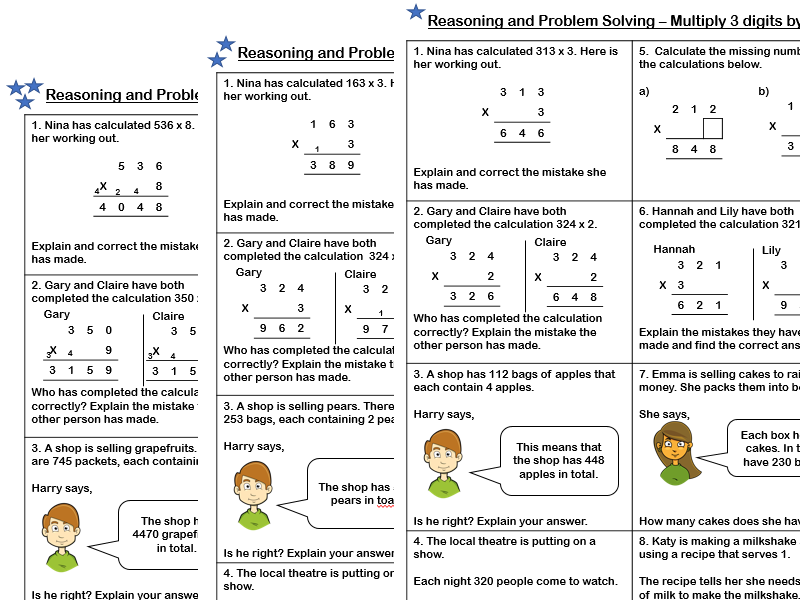 White Rose Maths - Year 4 - Spring Block 1 - Multiply 3 digits by 1 digit (Problem Solving)