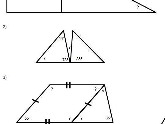 Calculating Missing angle - Year 6 with 4 levels of differentiation
