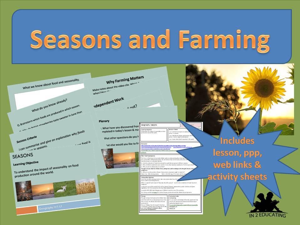 KS 2  Geography Seasons and farming lesson