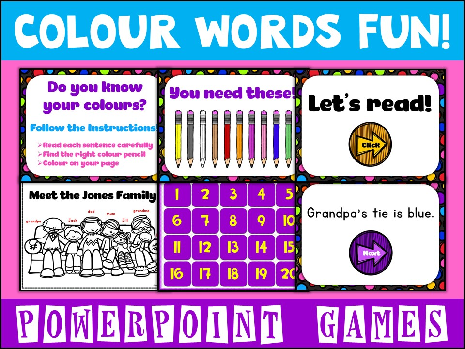 FREE:  Colour  PowerPoint Games