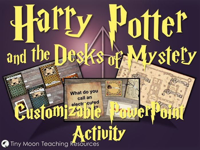 Harry Potter and the Desks of Mystery Customisable PowerPoint Template
