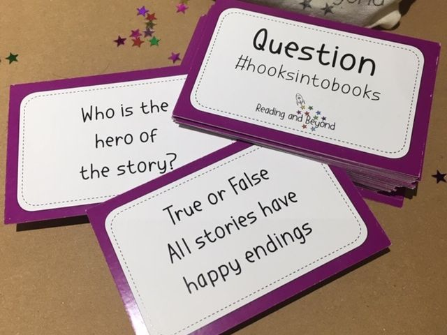 Guided Reading Question Cards  #Hooks into Books